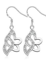 Earring Leaf Jewelry Women Fashion Wedding / Party / Daily / Casual / Sports Silver Plated 1 pair Silver