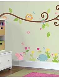 Colorful Owl Tree Wall Stickers For Kids Room Zooyoo1004 Decorative Pvc Removable Wall Decals Home Decorations