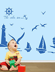 Wall Stickers Wall Decals Style English Words Sea PVC Wall Stickers