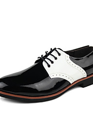 Men's Shoes Wedding Oxfords Black/White