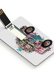 64GB Cartoon Car Design Pattern Card USB Flash Drive