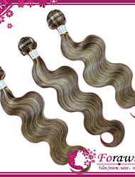 "4Pcs/lot 16""-24"" Brazilian Human Hair Extensions Mix color 8/613 Body Wave Human Hair Weave 100g/bundle"
