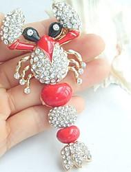 Women Accessories Gold-tone Clear Rhinestone Crystal Insect Scorpion Brooch Art Deco Scarf Brooch Pin Women Jewelry