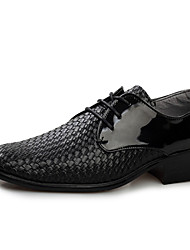 Men's Fashion Oxfords Casual/Office & Career/Party & Evening Leather Walking Woven Patterns Shoes