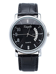 2015 Mens Simple Generous Business Watches with Date Display PU Leather Band Quartz Watches. Wrist Watch Cool Watch Unique Watch
