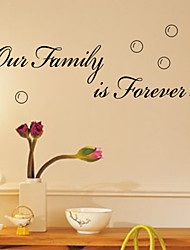 Our Family Is Forever Wall Decals ZY8179 Decorative Adesivo De Parede Removable Vinyl Wall Stickers