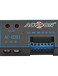 AC-H201 Car Auto Dual Outport Car High to Low Speaker to RCA Audio Amplifier Converter