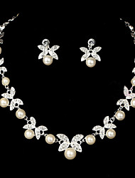 Women's Alloy Wedding/Party Jewelry Set With Imitation Pearl/Rhinestone(More Color)