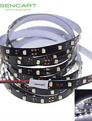 SENCART 5 M 300 3528 SMD Branco Cortável/Regulável/Conetável/Adequado Para Veículos/Auto-Adesivo 25 W Faixas de Luzes LED Flexíveis DC12 V