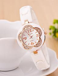 rodada caso mostrador do relógio de borracha da marca de moda quartzo das mulheres relógio (cor movimento vão poder)