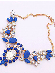 New Arrival Fashional Hot Selling Geometric Crystal Gen Necklace