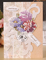 Non-personalized Side Fold Wedding Invitations Thank You Cards - 1 Piece/Set
