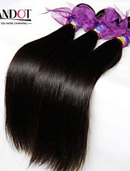 """4 pcs Lote 8 """"-28"""" pacotes tecer cabelo virgem retas peruanas naturais emaranhado preto gratuitos de cabelo humano extensões tramas leves"""