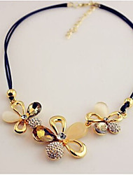 New Arrival Fashional Rhinestone Crystal Flower Necklace