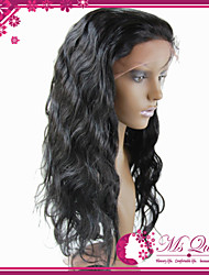 """10""""-30"""" Brazilian Human Hair Lace Front Wigs Natural Color Body Wave Soft Half Wigs Hair"""