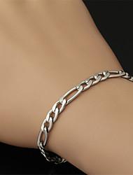 u7® nunca desaparecer robusto ligação Figaro cadeia pulseira de titânio de aço 316L 5 milímetros 21 centímetros