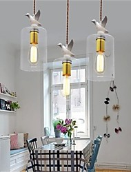 Creative personality bird Glass Chandelier