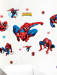 Wall Stickers Wall Decals,Spiderman Collection PVC Wall Stickers