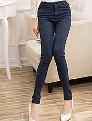 Pantaloni Da donna Skinny Casual Cotone Elasticizzato