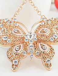 Butterfly Rhinestone Wedding Keychain Favor