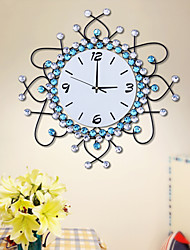 Modern Style Iron Diamond Mute Wall Clock