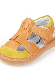 Baby Calçados - Sandálias - Marrom / Branco - Couro - Casual