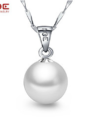 NBE 12mm Pearl/Sterling Silver Necklace Pendant Necklaces Wedding/Party/Daily/Casual 1pc