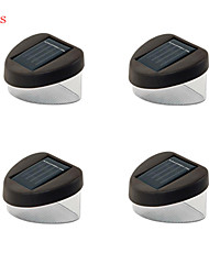 4pcs hry® 2LEDs IP67 luz de color blanco de la lámpara valla solar luces solares