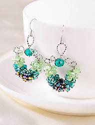 Drop Earrings Women's Silver Earring Cubic Zirconia