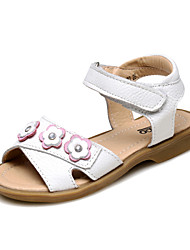 Girls' Shoes Outdoor/Athletic/Casual Slingback/Comfort/Round Toe/Open Toe Leather/Calf Hair Sandals Pink/White