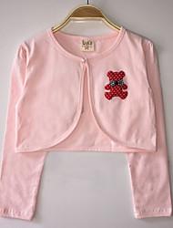 Kids Wraps Long Sleeve Lace/Polyester Lovely Bear Party/Casual Boleros White/Pink Bolero Shrug