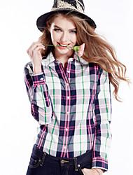 Women's Blue/Green/Orange/Multi-color/Gray Shirt Long Sleeve