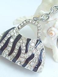 bolsa pingente chaveiro com cristais de strass claras