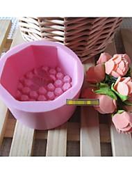 Mode Waben Seife Salz Skulptur Silikonkuchenschokolade dekoriert Kerzeform Backformen Kochen Werkzeuge (gelegentliche Farbe)