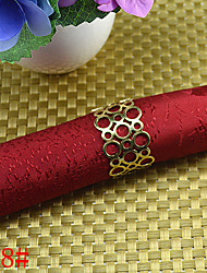 6Pcs Openwork Bead-shaped Napkin Rings