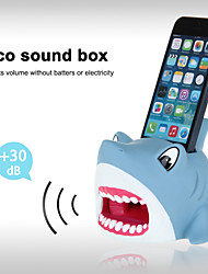 Cute Hands-Free Shark Sound Amplifier Stand Speaker Holder for iPhone 4/4S/5/5S/5C (Blue)