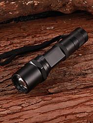 C1 XM-LT6 5-Mode 510Lumen White LED Flashlight with Clip/Strap(1x18650)