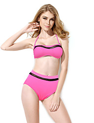 New Sexy PinkBikini Swimwear with Bandeau Top and High-waist Bottom in Low Price