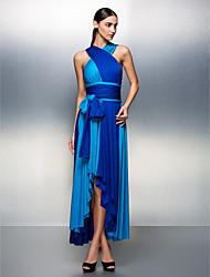 TS Couture® Prom / Formal Evening Dress - Color Block Plus Size / Petite A-line Asymmetrical Jersey with