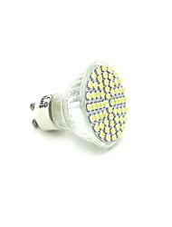 5W GU10 Lâmpadas de Foco de LED 60 SMD 3528 300-320 lm Branco Quente AC 220-240 V 1 pç