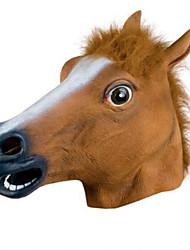 látex animales caballo cabeza de halloween máscara