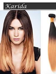 3 пучки 12-26 дюймов могут быть окрашены дешевые 100% девственных бразильские волосы Ombre 1b / 27 # прямые волосы