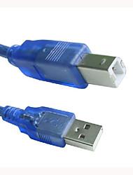 0,5 m / 1,6 ft USB 2.0 Druck Kabel A Stecker auf Druckerverlängerungskabel Kabel Blue B