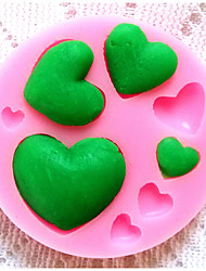 Bakeware Silicone Heart Baking Molds for Fondant Candy Chocolate Cake