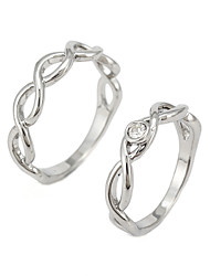 Fashion Lovers Twist Alloy And Diamond Ring