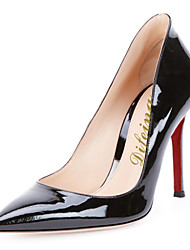Women's Shoes Patent Leather Stiletto Heel Heels / Pointed Toe Heels Wedding / Party & Evening / Dress Black / Gold