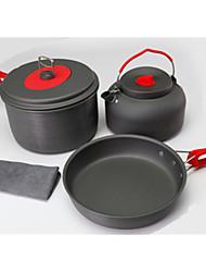 2-3 Outdoor Picnic Picnic Pot Pot Set Supplies Camping Equipment