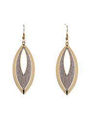 Fashion Women Glitter With Oval Disc Earrings