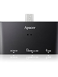 Apacer Card Reader AM 700 OTG MicroSDHC SDHC for Cellphone with Hub