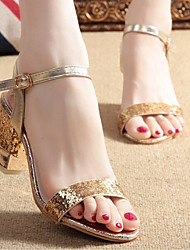 Astrider Women's Shoes Gold/Silver Chunky Heel 3-6cm Sandals